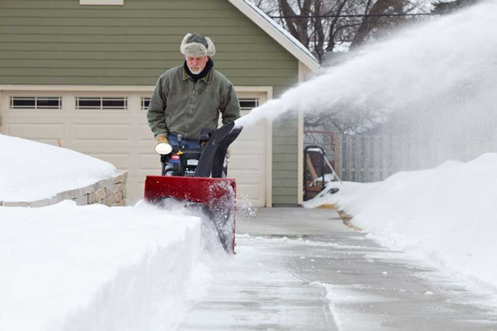 Neighbor blowing snow into your yard?