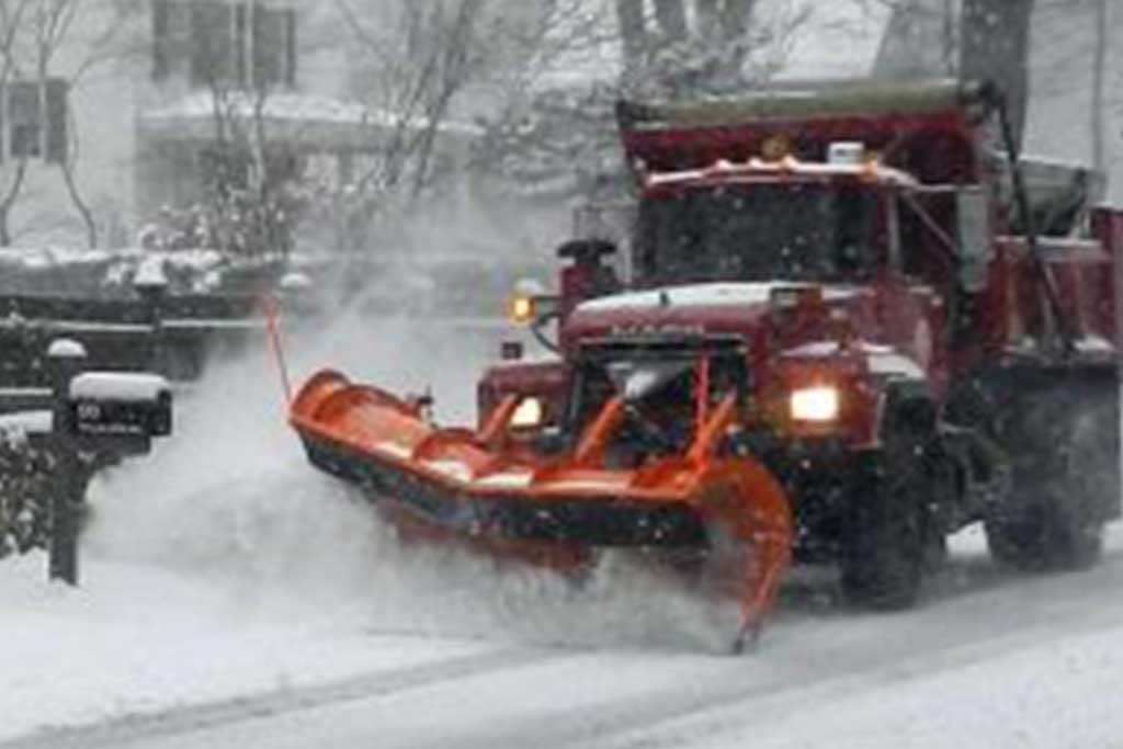 What if a snowplow hits my car or mailbox?